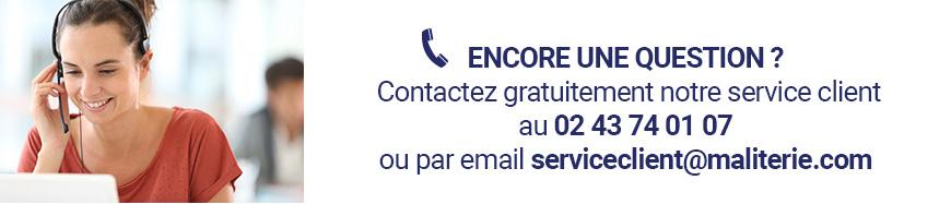 Contactez gratuitement le service client Maliterie