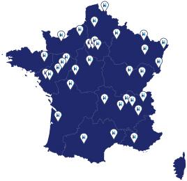 carte réseau de magasins