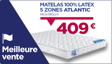 Matelas 100% latex top vente